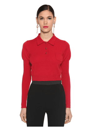 Cashmere Knit Polo Sweater