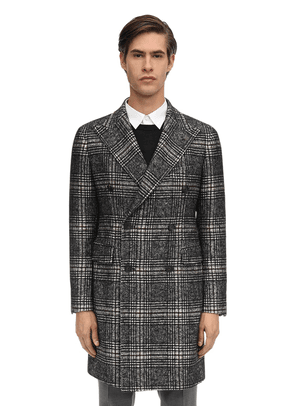 Double Breasted Cotton & Wool Blend Coat