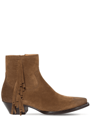 40mm Lukas Fringed Suede Boots