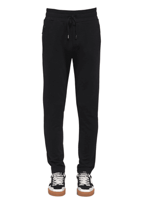 Cotton Jogging Trousers W/ Logo Patch