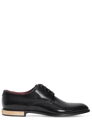Derby Leather Lace-up Shoes W/ Studs
