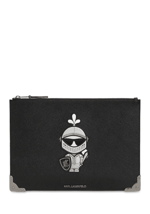 Karl Treasure Coated Canvas Pouch