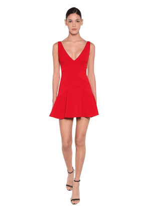 Stretch Crepe Mini Dress