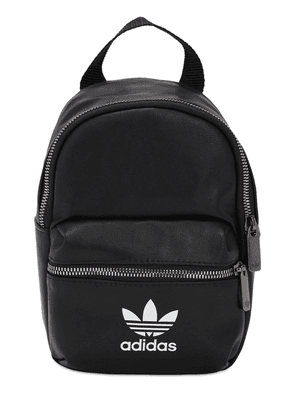 Logo Faux Leather Backpack