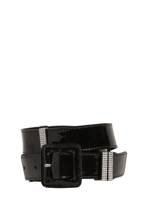 20mm Patent Leather & Crystal Belt