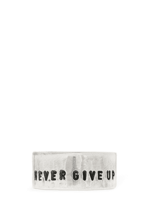 Never Give Up Sterling Silver Ring