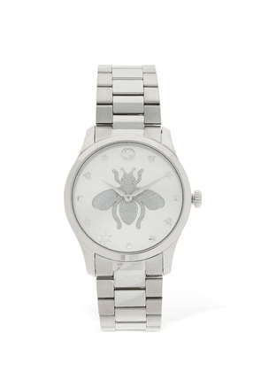 G Timeless Tone On Tone Bee Watch