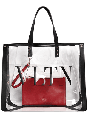 Logo Tote Bag W/ Leather Details
