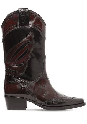 45mm Marlyn Brushed Leather Cowboy Boots