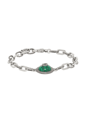 Gucci Silver and Green Gucci Garden Bracelet