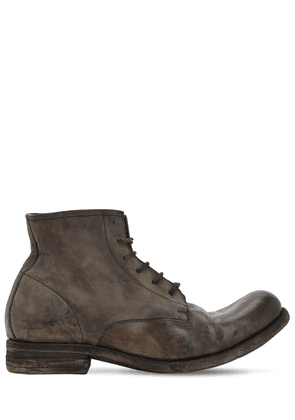 Handmade Leather Lace-up Boots