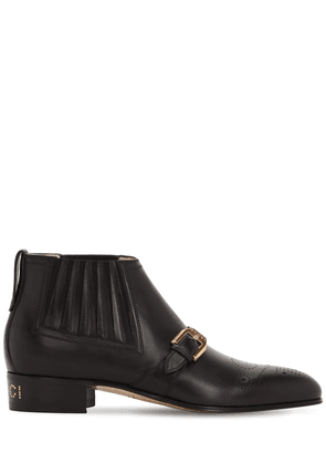 30mm Worsh Leather Ankle Boots