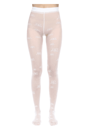 Logo Embroidered Stockings
