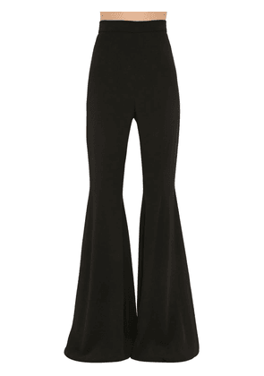 High Waist Flared Crepe Pants