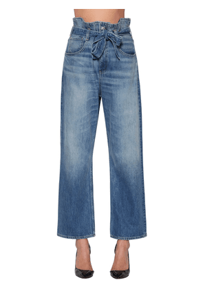 Kelly Paper Bag Cotton Denim Jeans