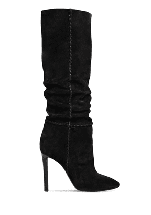 105mm Mica Suede Slouchy Boots