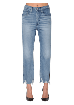 W4 Relaxed Slip Crop Denim Jeans