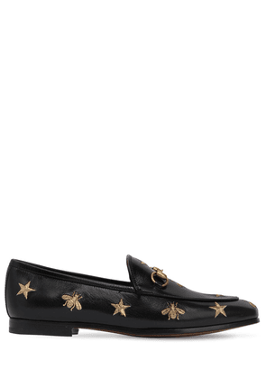10mm Jordaan Embroidered Leather Loafers