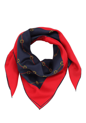 Connection Print Silk Twill Scarf