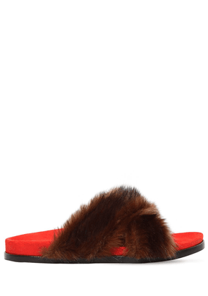 20mm Faux Fur Slide Sandals