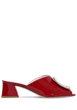 45mm Trés Vivier Patent Leather Mules