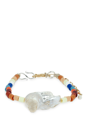 Nasty Girl Bead & Pearl Anklet