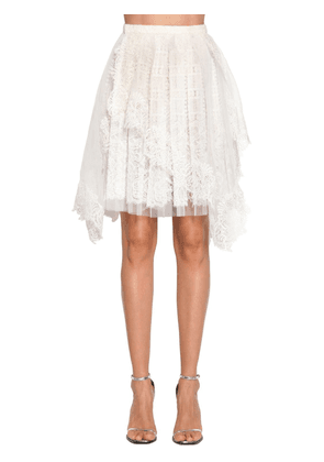 Multilayer Wrap Lace Skirt