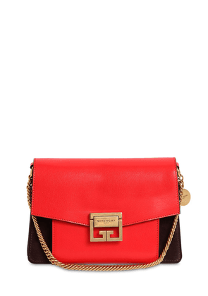 Small Gv3 Leather & Suede Shoulder Bag