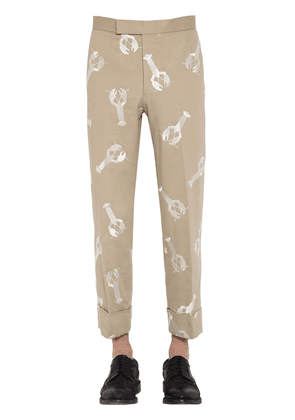 Lobster Embroidered Cotton Twill Pants