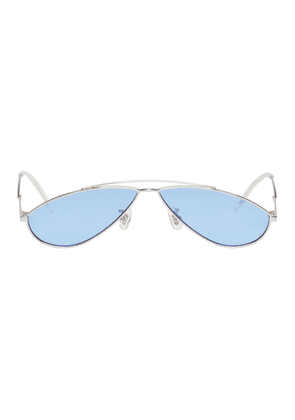 Gentle Monster Silver and Blue Kujo Sunglasses