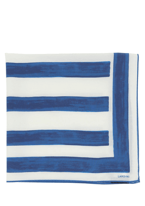 Striped Silk & Cotton Scarf