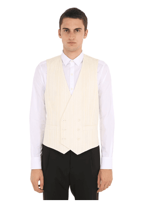 Double Breasted Cotton Blend Vest