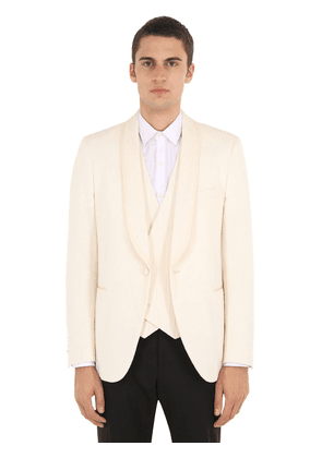 Cotton Blend Smoking Jacket