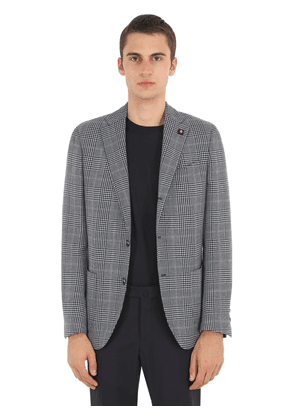 Checked Wool, Silk & Linen Jacket