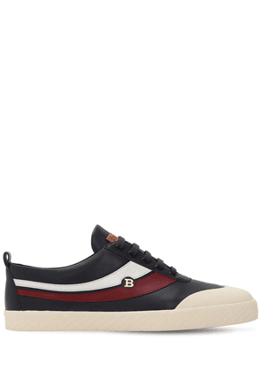 Smake Logo Leather Sneakers