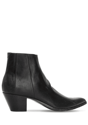 60mm Finn Leather Ankle Boots