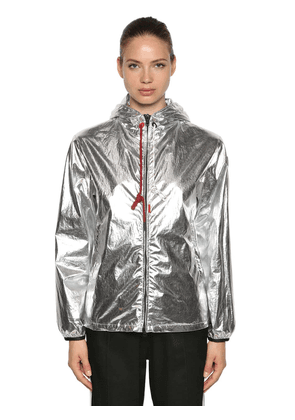 Mikael Metallic Coated Cotton Jacket