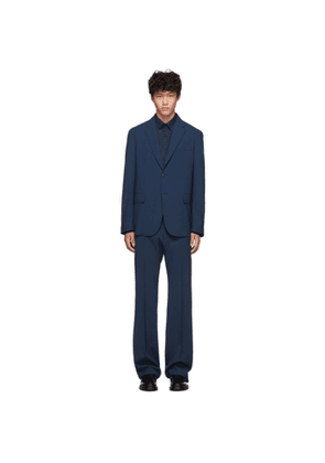 Valentino Blue Wool Suit