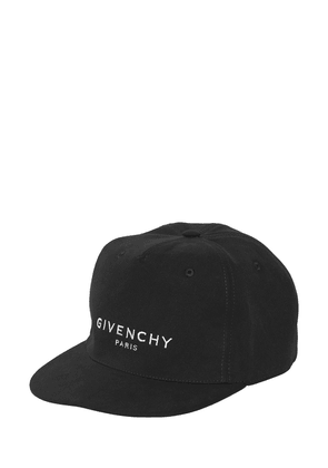 Logo Embroidered Canvas Baseball Hat