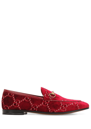 10mm Jordaan Gg Supreme Velvet Loafers