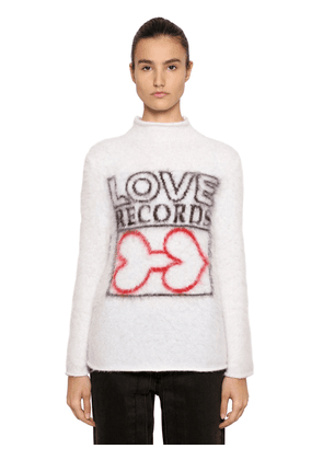 Love Intarsia Mohair Blend Sweater