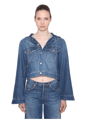 Hooded Cotton Denim Jacket