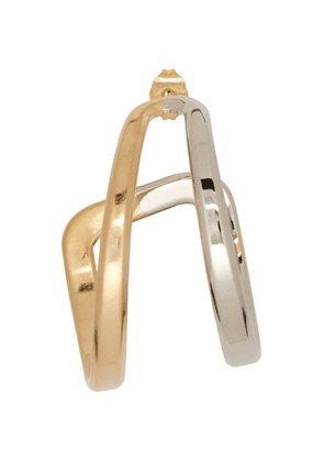 Maison Margiela SIlver and Gold Two Tone Left Earring