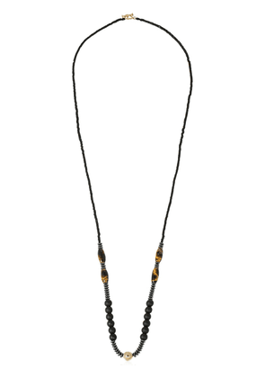 Yellow Gold & Tiger's Eye Necklace