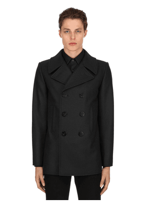 Double Breasted Wool Cloth Peacoat