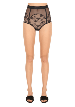 High Waist Lace Briefs