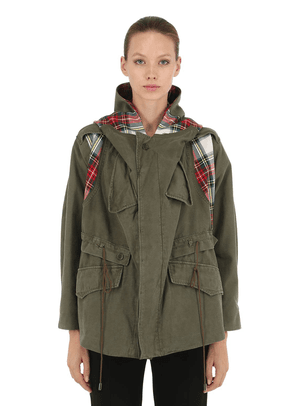 Limited Check Military Cotton Parka