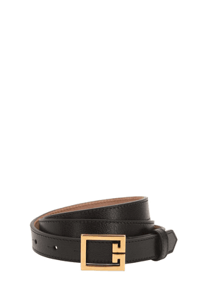 20mm Grained Leather Belt