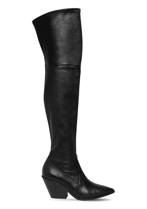 60mm West Stretch Leather Cuissarde Boot