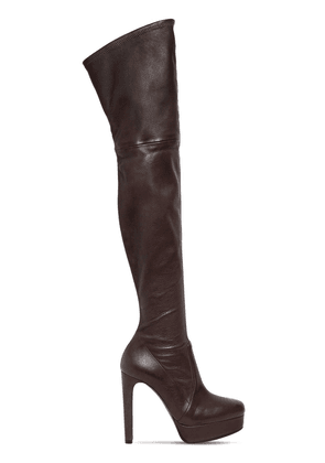 120mm Nappa Leather Over The Knee Boots
